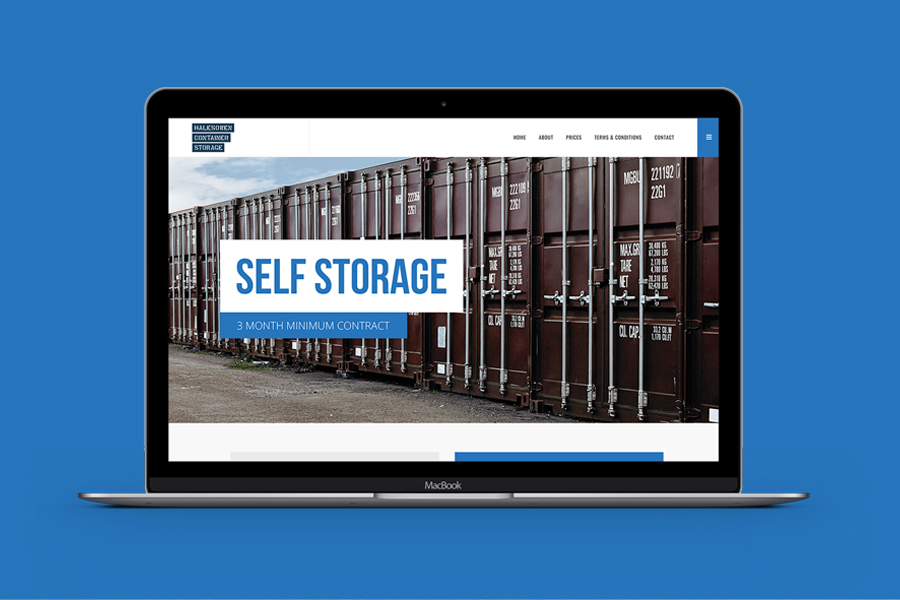 HALESOWEN CONTAINER STORAGE WEBSITE DESIGN