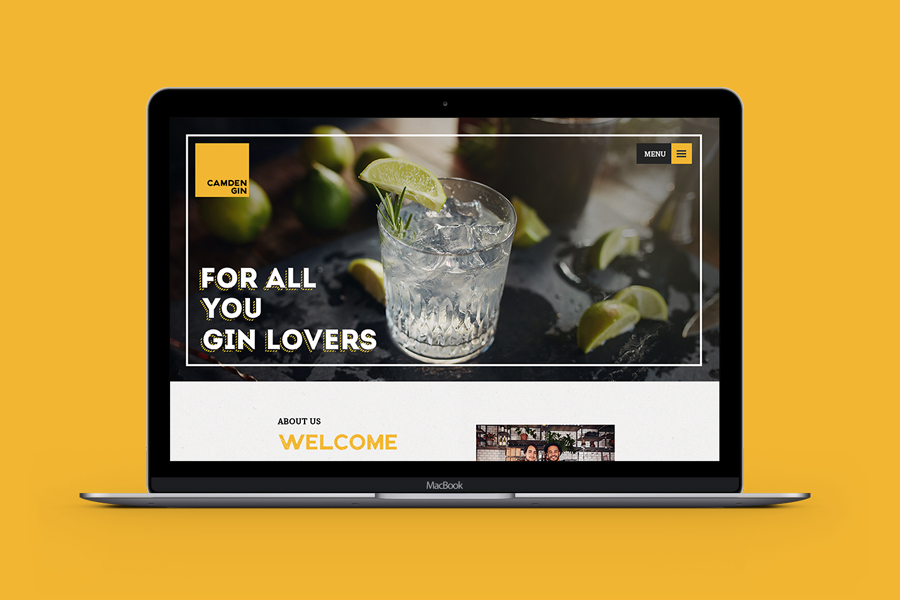 CAMDEN GIN WEBSITE DESIGN